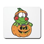 Silly Froggy in Pumpkin Mousepad