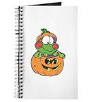 Silly Froggy in Pumpkin Journal