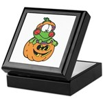 Silly Froggy in Pumpkin Keepsake Box