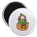Silly Froggy in Pumpkin Magnet