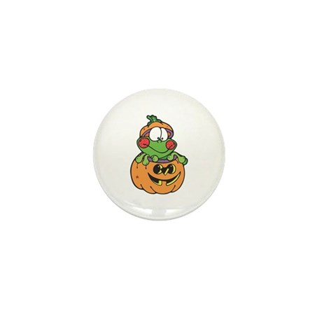 Silly Froggy in Pumpkin Mini Button (10 pack)