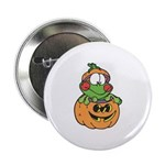 Silly Froggy in Pumpkin Button
