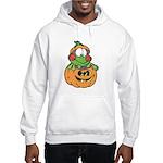 Silly Froggy in Pumpkin Hooded Sweatshirt
