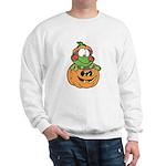 Silly Froggy in Pumpkin Sweatshirt