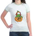 Silly Froggy in Pumpkin Jr. Ringer T-Shirt