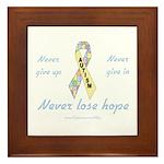 Autism Hope Framed Tile