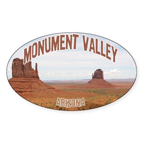 Monument Valley Oval Sticker
