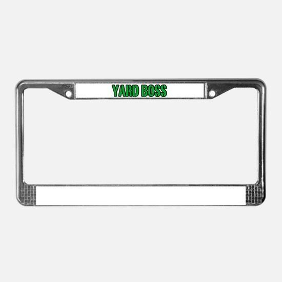 Yard Boss License Plate Frame