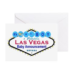It's a BOY LV BABY Announcement Cards Pk of 10
