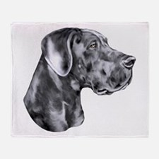 Great Dane HS Blue UC Throw Blanket