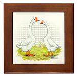 Chinese Goose and Gander Framed Tile
