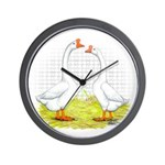 Chinese Goose and Gander Wall Clock