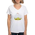Chinese Goose and Gander Women's V-Neck T-Shirt