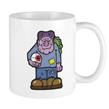 Funny Frankenstein with Pet Frog Mug