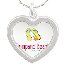 Pompano Beach - Silver Heart Necklace