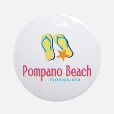 Pompano Beach - Ornament (Round)