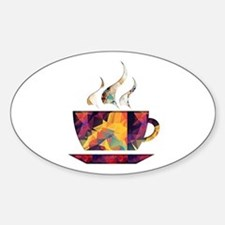 Colorful Cup of Coffee copy Decal