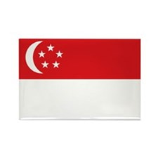 Flag Singapore Rectangle Magnet