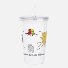 Follow The Line Of Acrylic Double-Wall Tumbler
