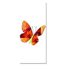Polygon Mosaic Orange Gold Butterfly Invitations