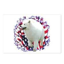 Samoyed Patriotic Postcards (Package of 8)
