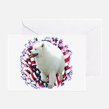 Samoyed Patriotic Greeting Cards (Pk of 10)