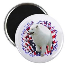 Samoyed Patriotic Magnet