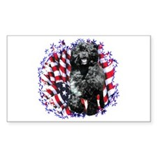 Water Dog Patriotic Rectangle Decal