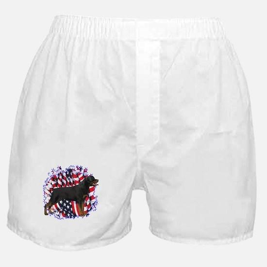 Rottweiler Patriotic Boxer Shorts