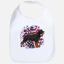 Rottweiler Patriotic Bib