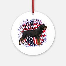 Rottweiler Patriotic Ornament (Round)