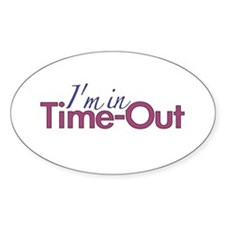 Girls Time Out Oval Stickers