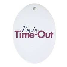Girls Time Out Oval Ornament