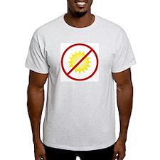 "Ash Grey T-Shirt ""I like the dark"" back"