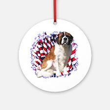 Saint Patriotic Ornament (Round)