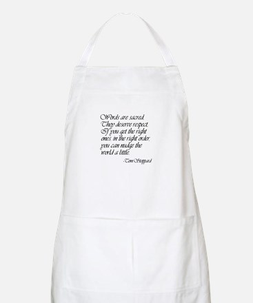 Quotes - Words are Sacred BBQ Apron