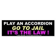 Accordion Warning Bumper Bumper Sticker