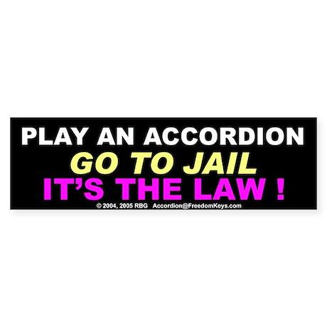 Accordion Warning Bumper Sticker
