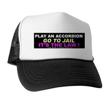 Accordion Warning Trucker Hat