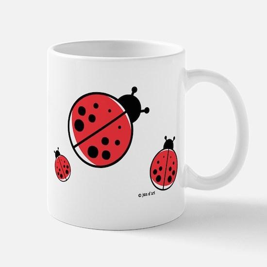 Red Ladybugs Mug