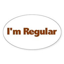 I'm Regular Oval Decal