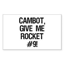 Rocket #9 Rectangle Decal