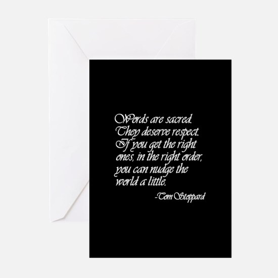 Quotes - Words are Sacred Greeting Cards (Package