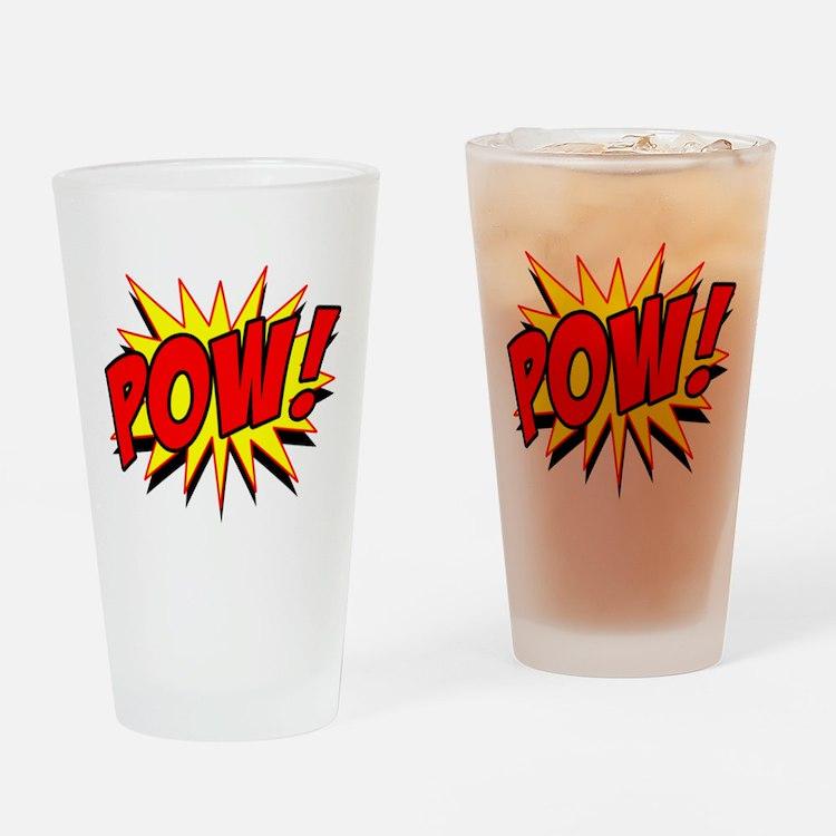 Pow! Drinking Glass
