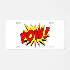Pow! Aluminum License Plate