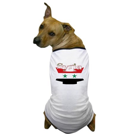 Flag ribbon Syria Dog T-Shirt
