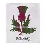 Thistle - Rothesay dist. Throw Blanket
