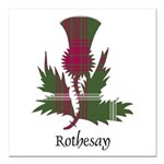 Thistle - Rothesay dist. Square Car Magnet 3