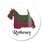 Terrier - Rothesay dist. Round Car Magnet