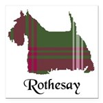 Terrier - Rothesay dist. Square Car Magnet 3